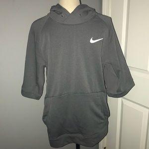 Nike drifit short sleeved hoodie